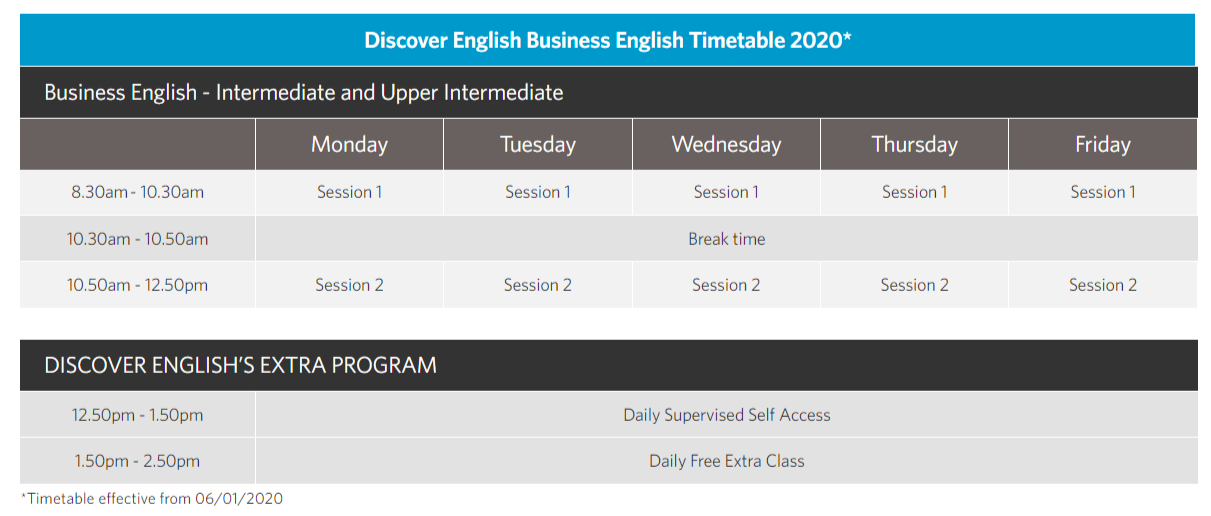 Discover BE Timetable