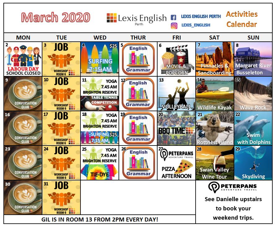 Lexis Perth March Activities